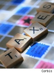Taxes.scrabble.corbis